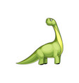 green dinosaur isolated childish brontosaurus dino vector image vector image
