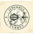 Grunge rubber stamp with Istambul Turkey vector image