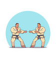 hand drawn character two mans in kimono vector image vector image