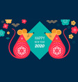 happy chinese new year design 2020 rat zodiac vector image vector image