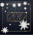 happy new year 2019 winter holiday vector image