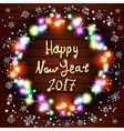 Happy New Year greeting card with Best Wishes vector image