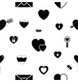 heart seamless pattern background icon vector image vector image