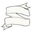 heraldry scroll comic cartoon vector image vector image