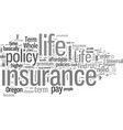 how to find affordable life insurance in oregon vector image vector image