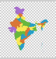 india map with federal states flat vector image vector image