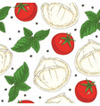 italian food seamless pattern vector image vector image