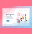 kindergarten isometric web page vector image