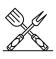 kitchen cook tool icon outline style vector image