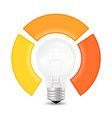 light bulb infographic template for lamp diagram vector image