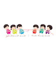 Little Kids playing Tug of War vector image vector image