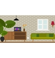 living room home interior vector image vector image