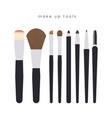 make up tools vector image