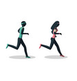 man and woman running healthy lifestyle concept vector image