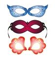 Masquerade party masks vector image