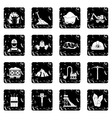 Miner icons set vector image vector image