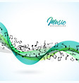 music with falling notes and vector image