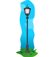 old outdoor lamp vector image