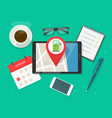 online map with gas petrol fuel station navigation vector image vector image