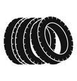 pile of tire icon simple style vector image vector image