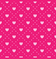 pink heart pattern vector image