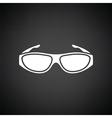 Poker sunglasses icon vector image vector image