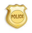 police badge drop shadow and isolated vector image