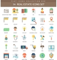 Real estates color flat icon set Elegant vector image