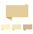 realistic recycled paper speech bubble set vector image