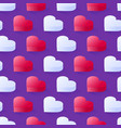 seamless isometric pattern geometric flat pink vector image vector image