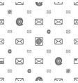 send icons pattern seamless white background vector image vector image