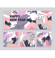 set of banners of art cards with dogs vector image