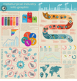 Set of elements and tools of metallurgical vector image vector image