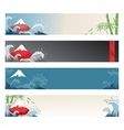 Set of japanese banners for design vector image vector image