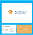 shirt logo design with tagline front and back vector image