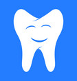 smiling tooth dental vector image vector image