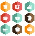 solid icons kitchen appliances vector image vector image