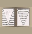 stripe silver foil cover set vector image