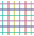 striped tartan plaid style colorful seamless vector image vector image