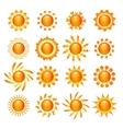 Sun symbol icons set vector image vector image