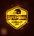 super bowl tournament logo sport vector image vector image