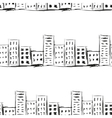 Urban line landscape ink imitation drawing on a vector image vector image