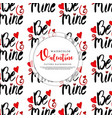 valentine pattern background vector image