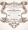 vintage border frame with retro ornament vector image