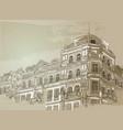 vintage building vector image