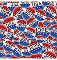 Vote USA badge pins pattern vector image vector image