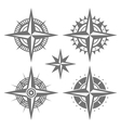 Wind Rose Retro Design Set vector image vector image