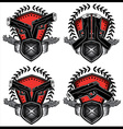 glock pistol weapon military design stamps vector image