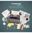 1608i107025Sm005c11journalist typewriter vector image vector image