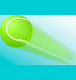a tennis ball in flight eps10 vector image